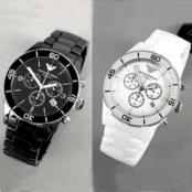 [エンポリオアルマーニ]男性用腕時計偽物 (クロノグラフ、セラミック)AR1421/AR1424 コピー
