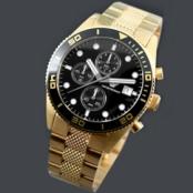 エンポリオアルマーニEMPORIO 男性用時計偽物(クロノグラフ、ゴールドバンド)AR5857 コピー