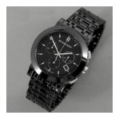 バーバリー BU1771 男性用腕時計、Heritage(ヘリテージ)クロノグラフ、ブラックセラミック コピー
