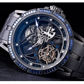 2016新作ロジェデュブイDBEX0529 スケルトン ブルーサファイアスーパーコピー時計